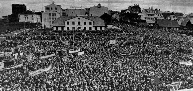 O dia em que as mulheres islandesas pararam o país