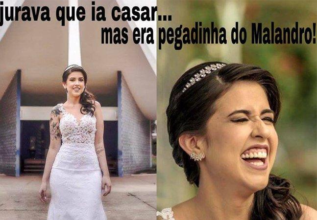 Mulher no DF cria memes divertidos para superar a fuga de seu noivo no dia do casamento