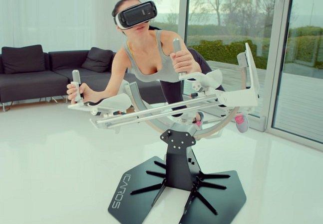 Startup usa realidade virtual pra fazer com que você tenha a sensação de flutuar enquanto faz exercício físico