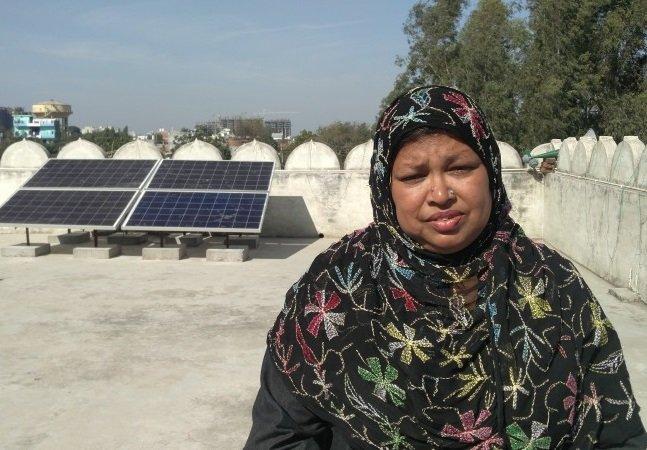 Primeira mesquita feminina da Índia decide incorporar sistema de energia solar