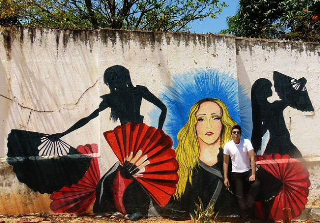 Artista do Ceará vai pintar hospital no Malauí a convite de Madonna