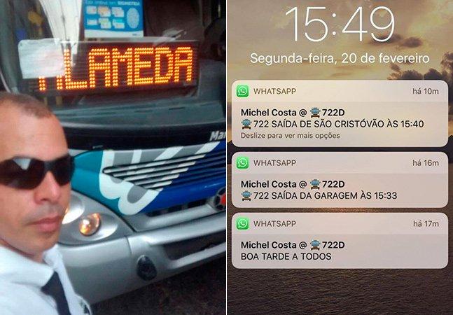 Motorista de ônibus no RJ cria grupo no WhatsApp para notificar passageiros sobre horários