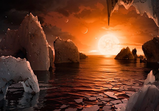 Nasa anuncia descoberta de  sistema solar com 7 planetas parecidos com a Terra