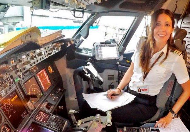 Pilota de avião compartilha fotos de suas aventuras para incentivar outras mulheres a seguir carreira