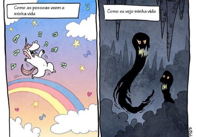 Essa série de quadrinhos descreve na perfeição o que significa viver com ansiedade