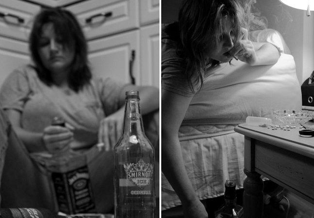 Ela fotografou depressão, vício e suicídio em um projeto íntimo e arrebatador