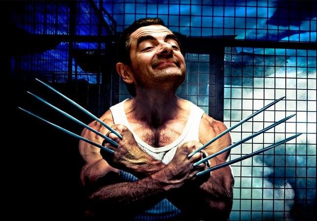 Qualquer personagem se torna engraçado com o rosto de Mr. Bean