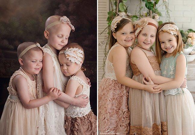 Três anos depois, meninas que sobreviveram ao câncer recriam foto viral e a diferença é inspiradora