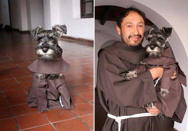 Conheça Frei Bigode, o cãozinho fofo adotado por monges franciscanos na Bolívia