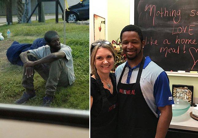 Após cruzar com um morador de rua por 3 anos, ela parou para o conhecer e acabou mudando sua vida