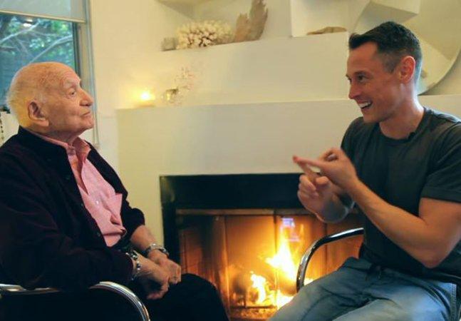 Homem de 95 anos sai do armário em vídeo tocante e lembra que nunca é tarde para ser livre e feliz