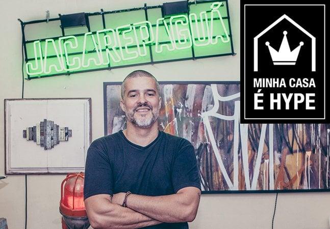 Ele transformou sua casa bucólica de bairro em SP em uma incrível galeria e residência artística