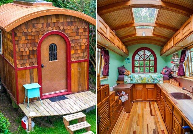 Descubra como uma casa da largura de uma cama pode ser super aconchegante e espaçosa