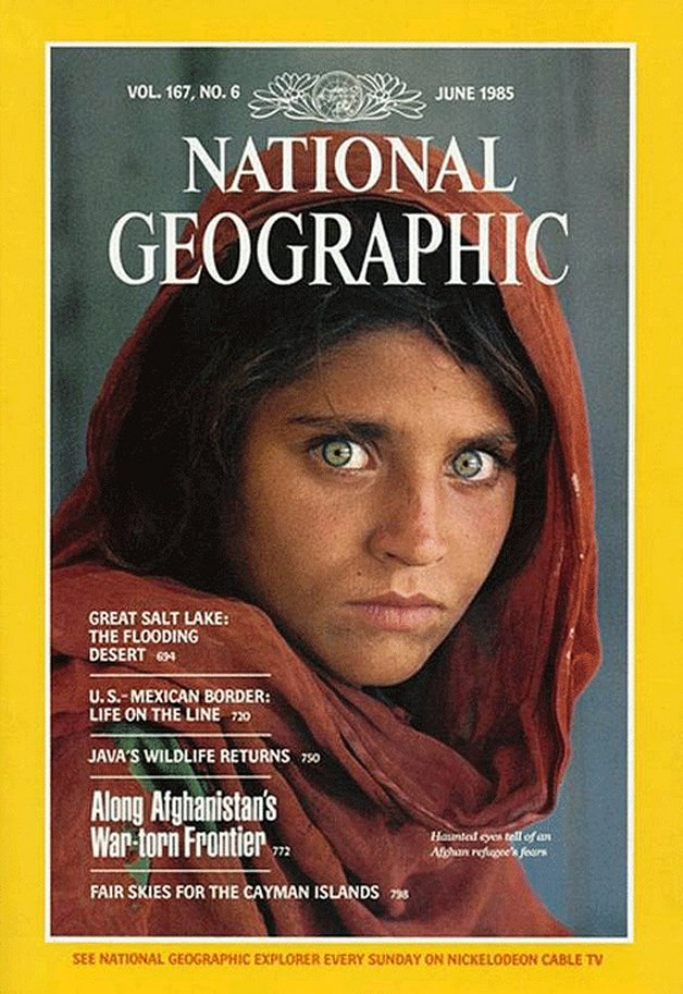 """A garota afegã"" na capa da revista"