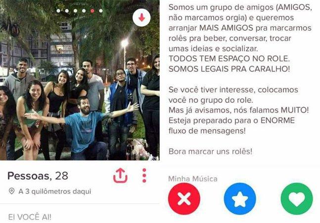 Esse grupo de amigos encontrou uma maneira muito divertida de usar o Tinder coletivamente
