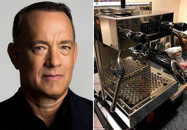 Tom Hanks mantém tradição e presenteia jornalistas da Casa Branca com cafeteira
