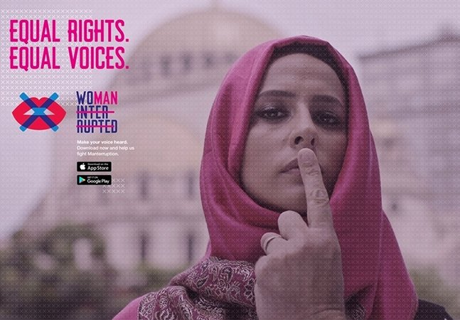 Agência brasileira lança aplicativo que conta quantas vezes uma mulher é interrompida por um homem