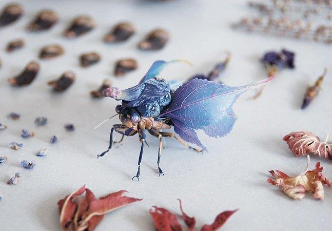 Os insetos de resina inventados por Hiroshi Shinno parecem criaturas reais