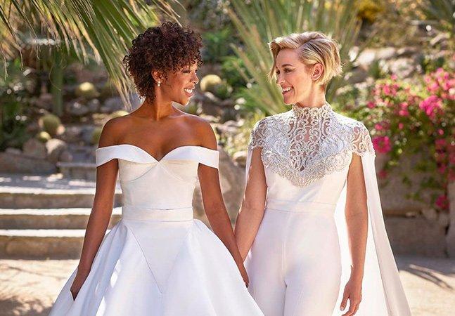 O maravilhoso casamento – e a foto viral vestidas de noiva – entre atriz e roteirista de 'Orange Is The New Black'