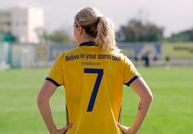 Seleção feminina de futebol da Suécia troca nomes por frases de empoderamento nas camisas