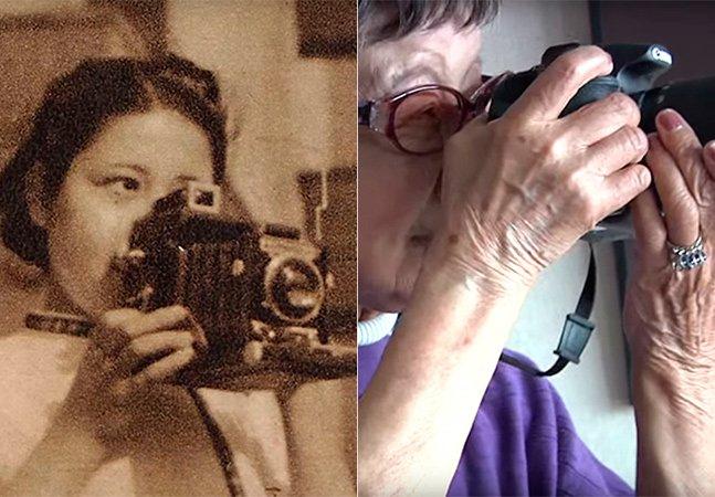 A primeira fotojornalista japonesa está com 102 anos e segue fotografando