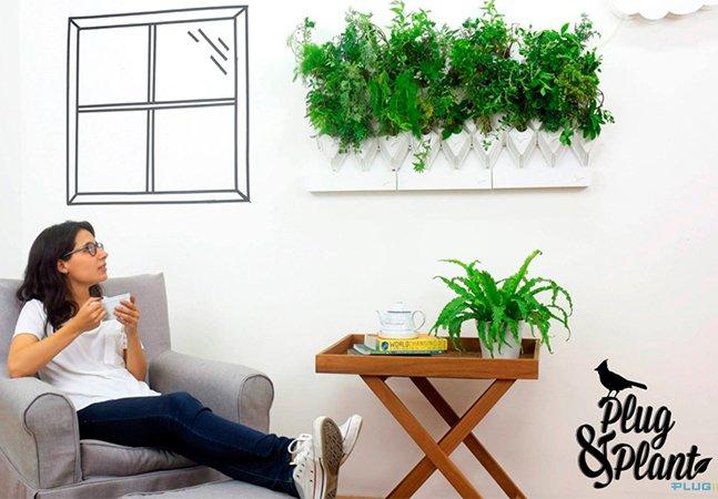 Sistema modular transforma qualquer parede em horta ou jardim