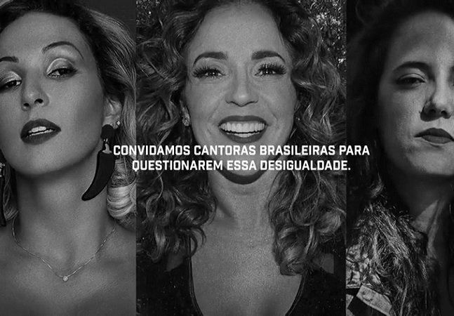 Artistas brasileiras cortam 30% de suas músicas pra protestar contra diferença salarial entre homens e mulheres