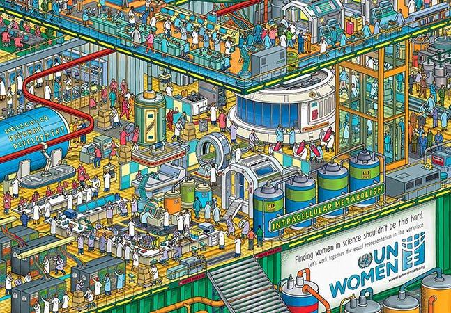 ONU usa famoso 'Onde está o Wally?' pra mostrar disparidade na ciência, política e tecnologia