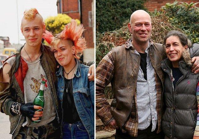 Antes e depois mostra como adolescentes rebeldes dos anos 1980 e 1990 estão hoje