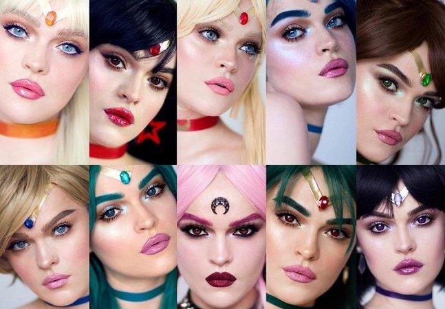 Com muito talento e maquiagem ela se transformou em TODAS as guerreiras Sailor Moon