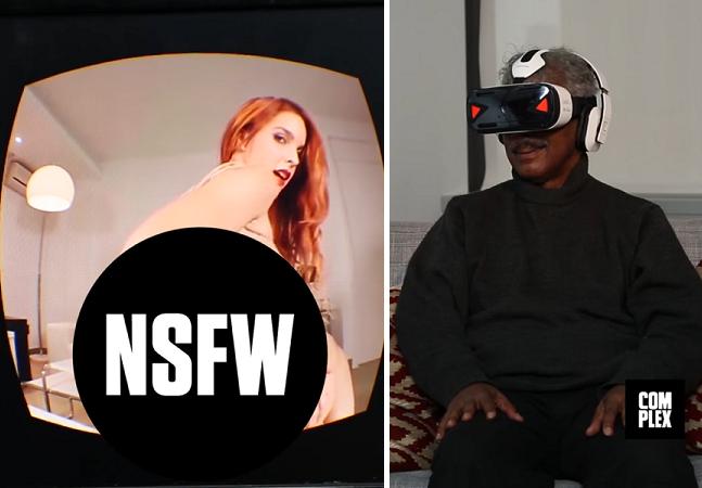 O que acontece quando pessoas idosas assistem sexo com óculos de realidade virtual