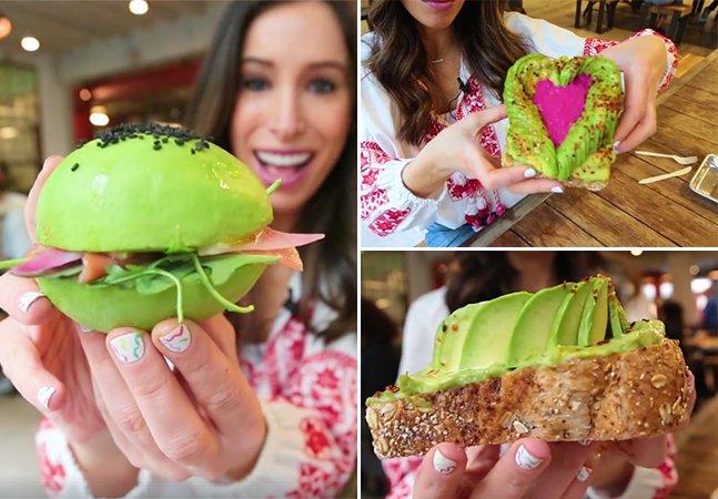 As pessoas estão pirando com a Avocaderia, um restaurante onde tudo é feito com abacate