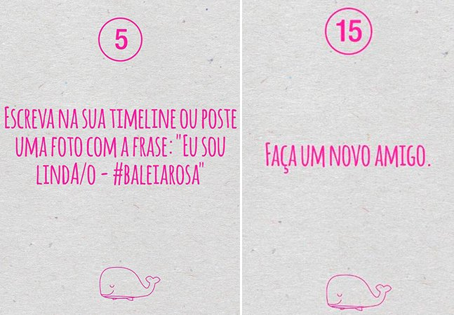 Em resposta ao jogo Baleia Azul, publicitários criam o Baleia Rosa, com desafios em prol da vida