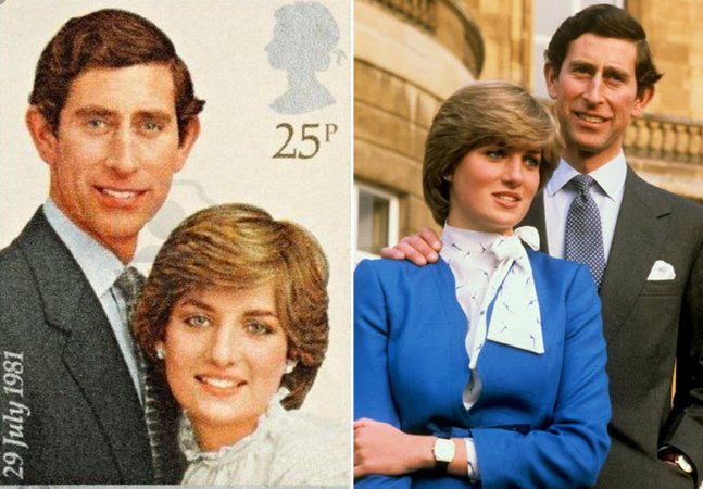 Príncipes Charles e Diana tinham a mesma altura; mas nas fotos oficiais ele aparece sempre muito mais alto