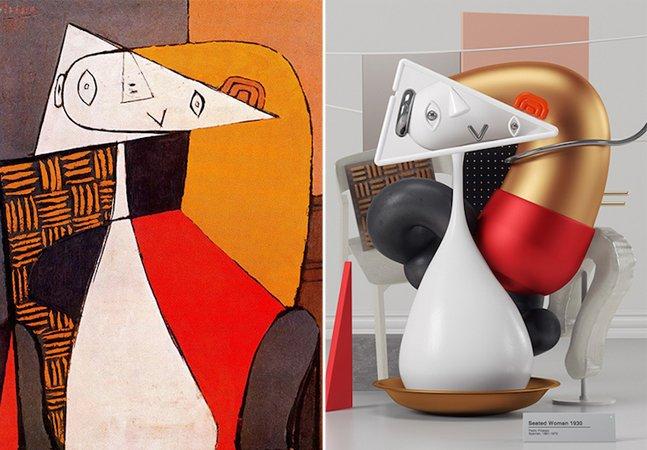 Artista transforma pinturas de Picasso em incríveis 'esculturas' 3D e o resultado é maravilhoso