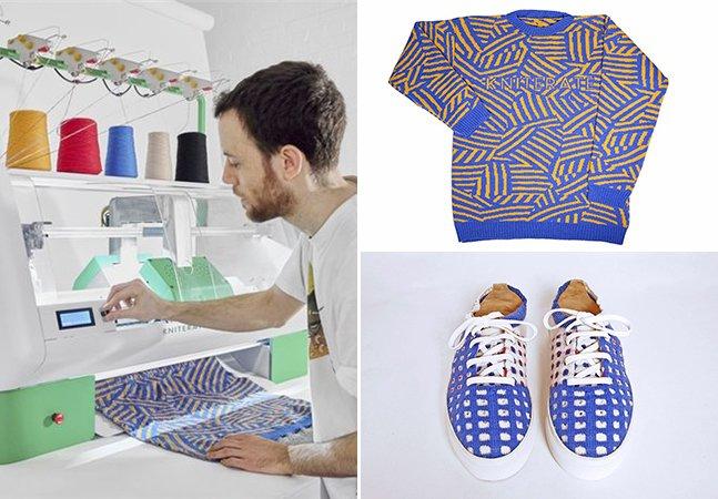 Essa máquina de tricô é como uma impressora 3D que permite que você crie e imprima suas roupas