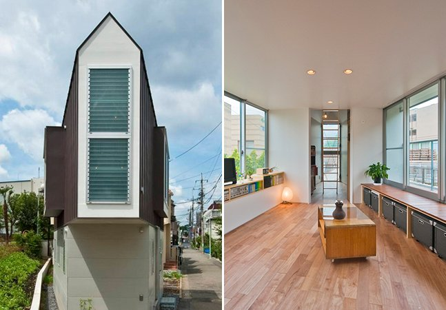 Vista por fora essa casa parece minúscula, mas seu design maravilhoso  faz dela o lar dos sonhos