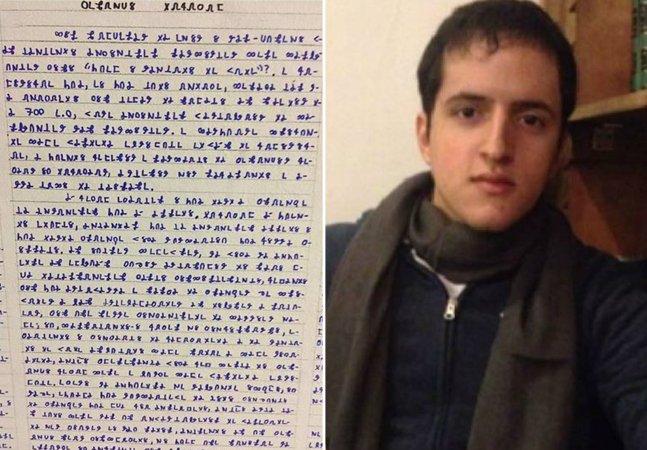 Uma das páginas do estudante que desapareceu no Acre é traduzida e revelada