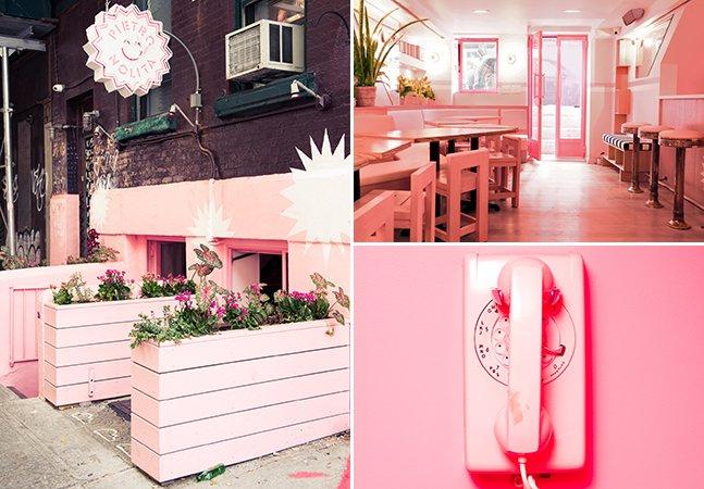 Por dentro do restaurante mais rosa – e um dos mais bonitos – de Nova York