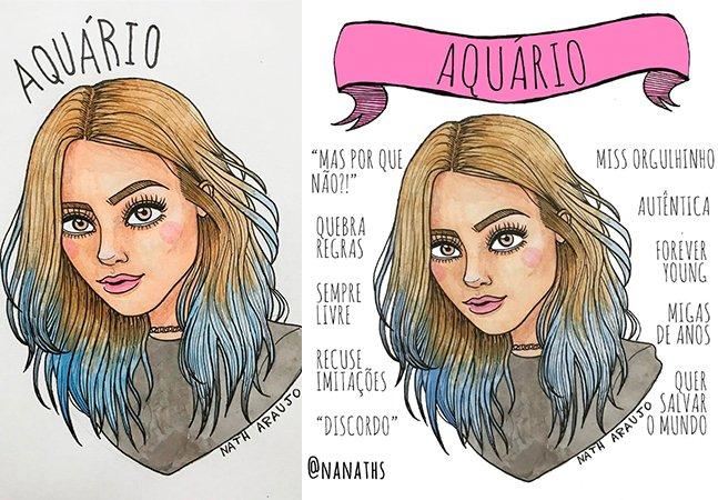 Artista brasileira ilustra de forma perfeita a mulher de cada signo