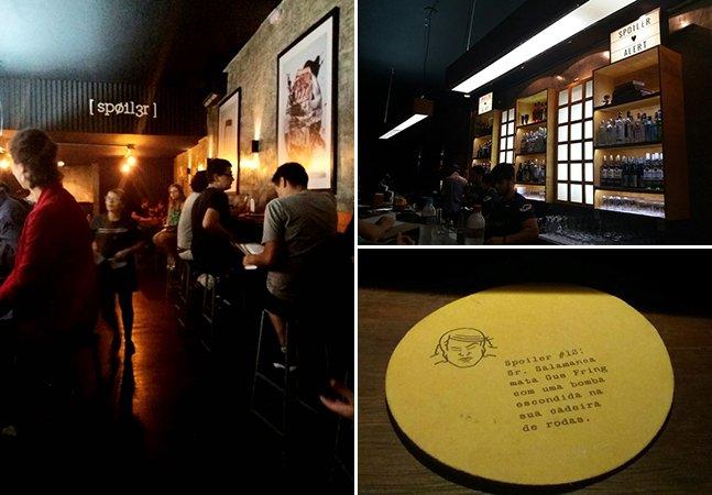 Cuidado: este bar em Porto Alegre contém **spoiler**