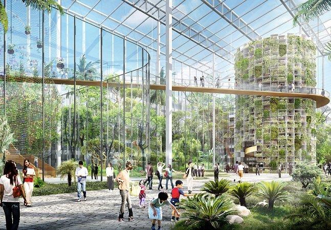 O futuro das cidades pode ser parecido com esta fazenda urbana em Xangai