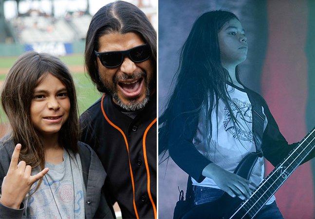 [Vídeo] O filho de 12 anos de Robert Trujillo, do Metallica, está substituindo o baixista do Korn em turnê