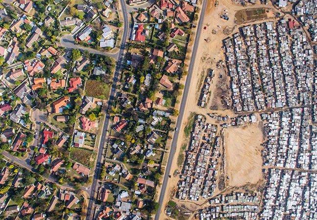 Drone viaja pelo mundo para captar impressionantes 'cenas de desigualdade'
