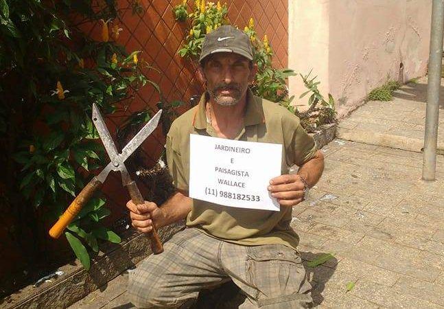 O jardineiro que vendeu papelão durante um ano em SP para se formar como paisagista