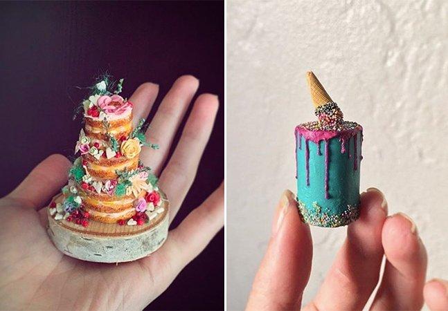 Este artista faz miniaturas de bolos de casamento para noivos guardarem de lembrança