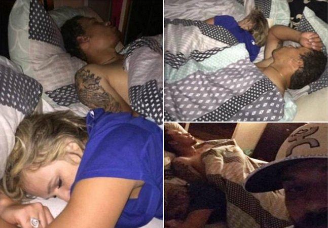 Ele decidiu fotografar a namorada que estava dormindo com outro homem