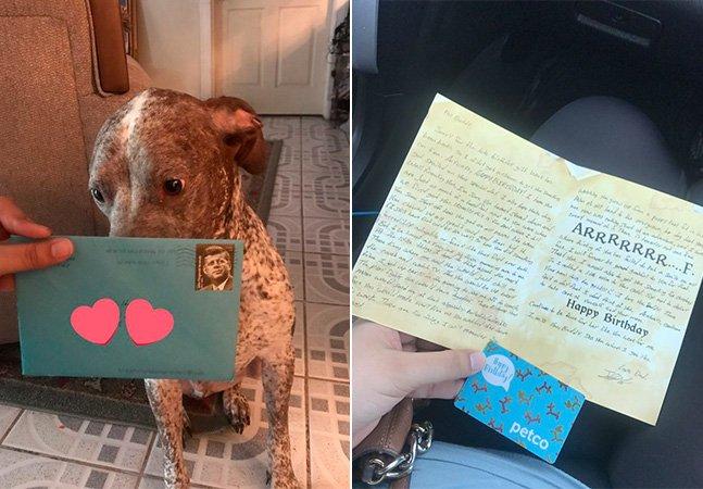 O ex-namorado dessa mulher continua enviando presentes de aniversário pro cachorro que os dois adotaram