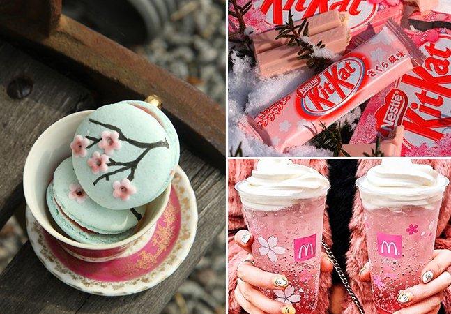 Flor de cerejeira inspira a criação de cerveja, chocolate, cupcakes, roupas, tattoos e até cafés temáticos