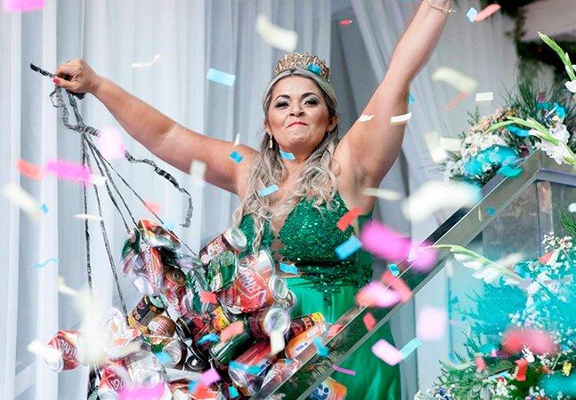 Catadora da Paraíba celebra baile de formatura levando as latinhas que pagaram seus quatro anos de faculdade